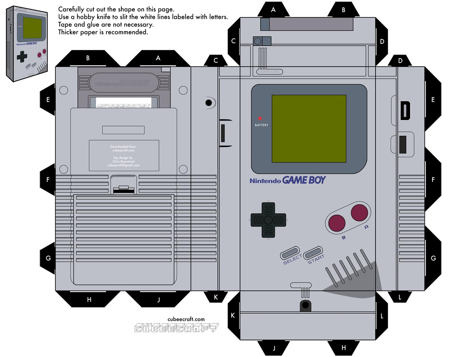 Recortable De La Game Boy El Blog De Topofarmer