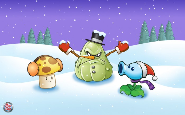 Wallpapers navideños de Plants vs Zombies | blog de artes