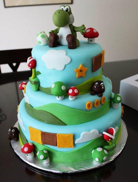 Que harías si fueses...? - Página 2 Yoshi-birthday-cake