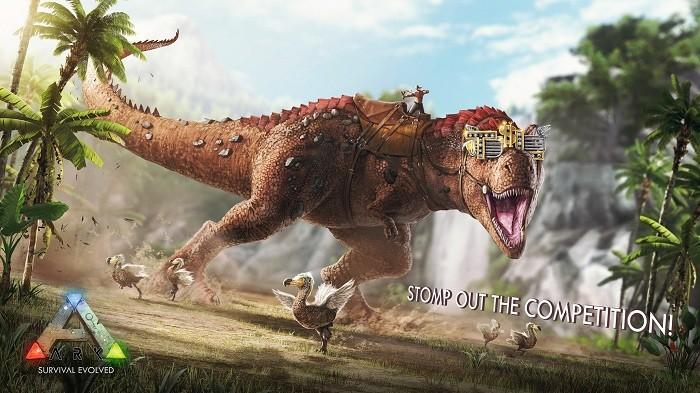 ark survival evolved stomping land
